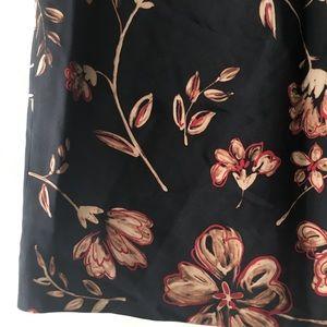 Ann Taylor silk A-line mini skirt